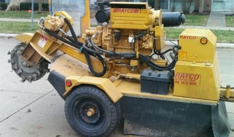 Stump Grinder used by Tree Service of Troy, Michigan