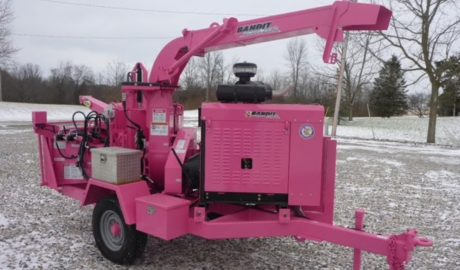 Tree Service of Troy Michigan Pink Wood Chipper